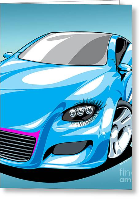 Eyelash Greeting Cards - She s Got Class Greeting Card by Cheryl Young