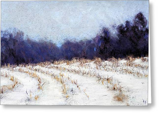 Cornfield Pastels Greeting Cards - Sheep Hill Greeting Card by Kenneth DelGatto