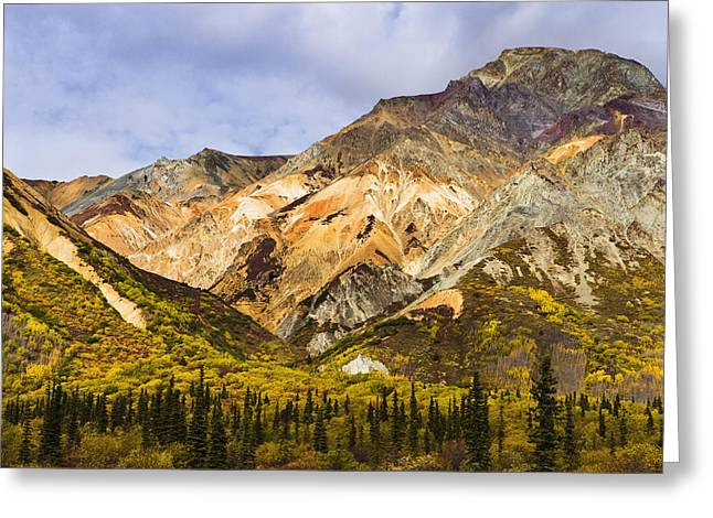 Sheep Mountain Along Glenn Highway Greeting Card by Yves Marcoux