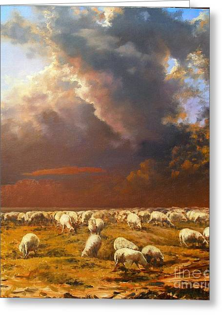 Symbolism Greeting Cards - Sheep.Alarm Greeting Card by Andrey Soldatenko