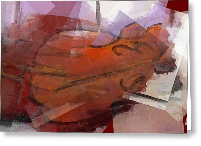 Transfer Paintings Greeting Cards - Sheet Music Greeting Card by J Christian Sajous