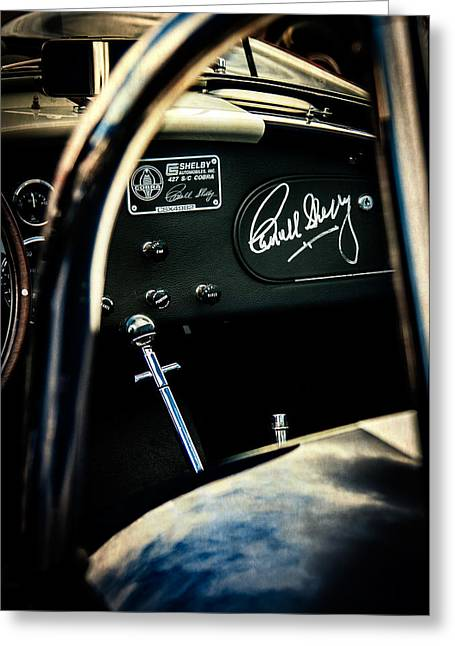 Carroll Shelby Greeting Cards - Shelby Cockpit Greeting Card by Paul Bartell
