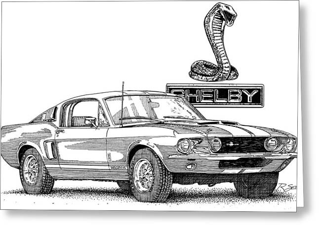 Shelby Gt350 Greeting Card by Rod Seel