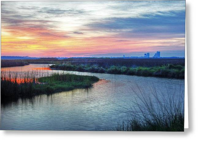 Crimson Tide Greeting Cards - Shelby Lake Monday Hurricane Greeting Card by Michael Thomas