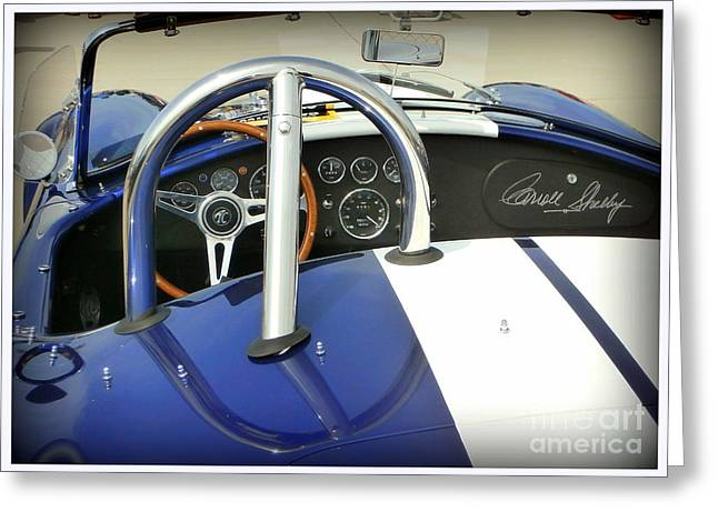 Shelby Signed Cobra Greeting Card by Karyn Robinson