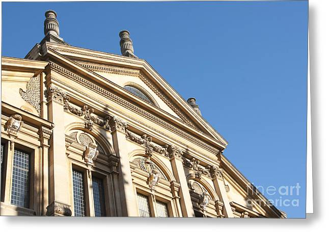 Outdoor Theater Greeting Cards - Sheldonian facade Greeting Card by Andrew  Michael