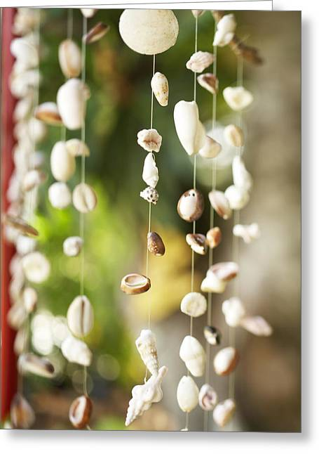 Culture Influenced Art Greeting Cards - Shell Windchimes Greeting Card by Kyle Rothenborg - Printscapes