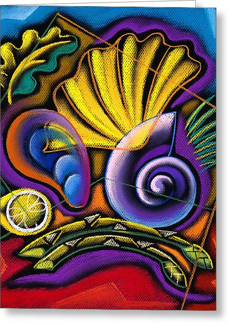 Close Up Paintings Greeting Cards - Shellfish Greeting Card by Leon Zernitsky