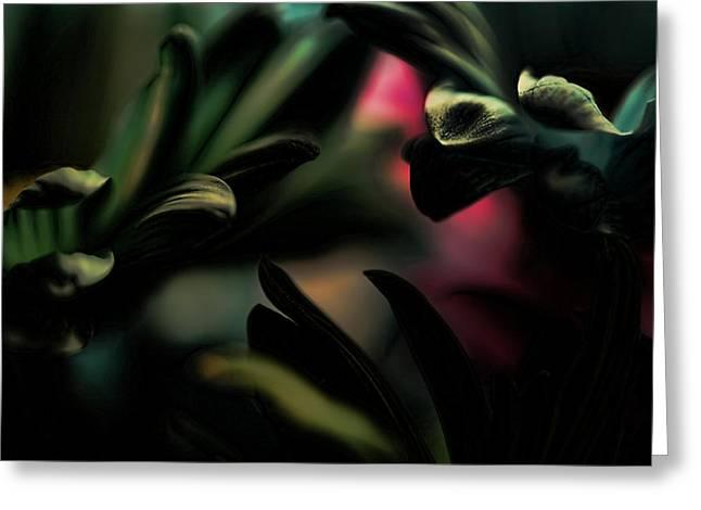Garden Art Digital Art Greeting Cards - Sheltered Greeting Card by Bonnie Bruno