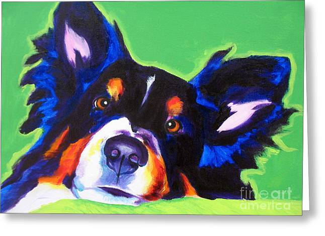 Whimsical Dog Art Greeting Cards - Sheltie - Socks Greeting Card by Alicia VanNoy Call
