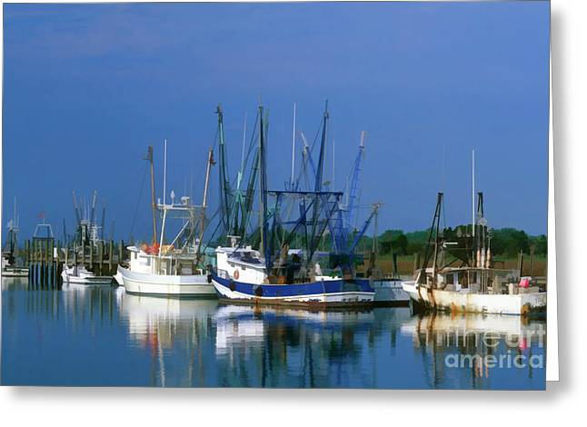 Fishing Creek Digital Greeting Cards - Shem Creek - FS000295b Greeting Card by Daniel Dempster
