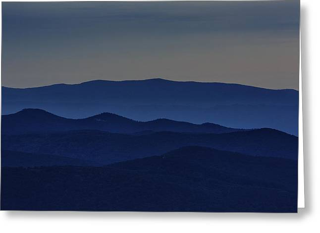 Shenandoah National Park Greeting Cards - Shenandoah Dusk Greeting Card by Rick Berk