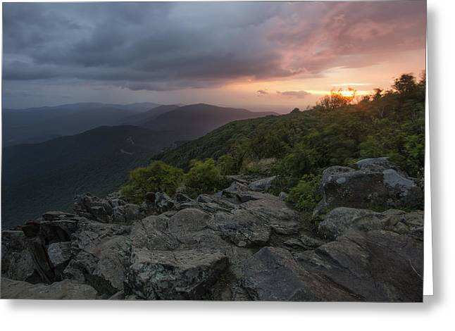 Gathering Photographs Greeting Cards - Shenandoah Sunrise Greeting Card by Rick Berk