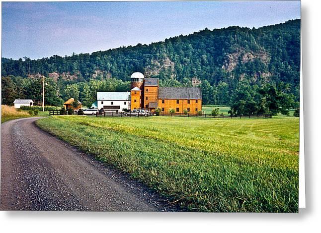 Outbuildings Greeting Cards - Shenandoah Valley Farm Greeting Card by Douglas Barnett