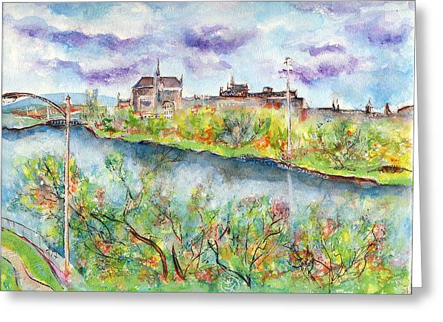 Ion Vincent Danu Greeting Cards - Sherbrooke Quebec Greeting Card by Ion vincent DAnu