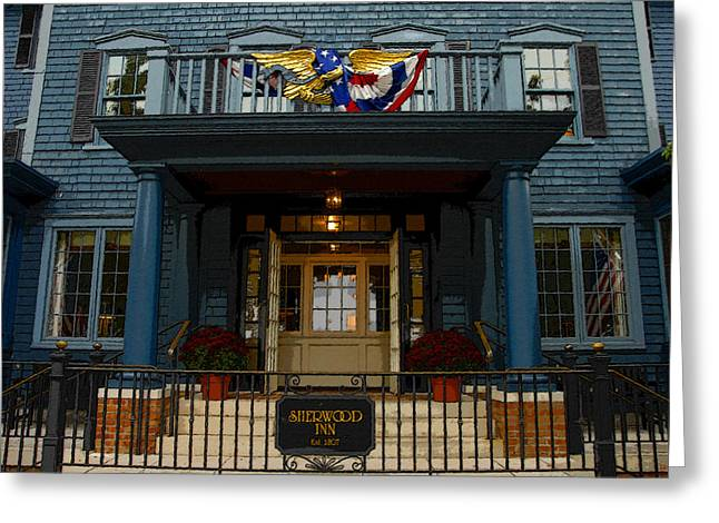 Skaneateles Greeting Cards - Sherwood Inn 1807 Greeting Card by David Lee Thompson