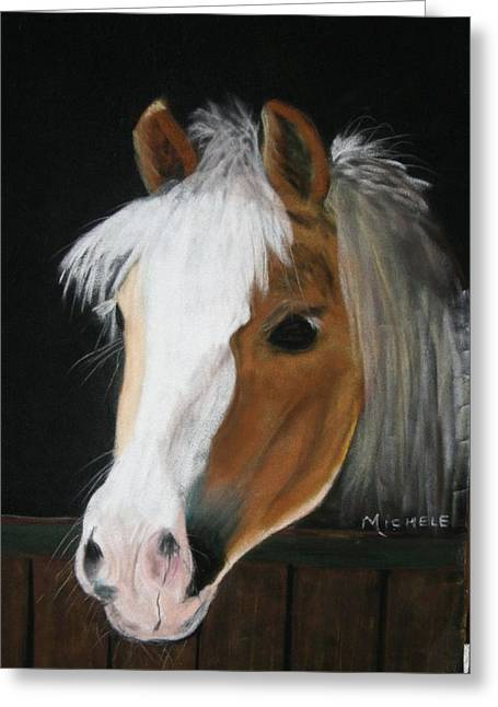 Pony Pastels Greeting Cards - Shetland Pony Greeting Card by Michele Turney