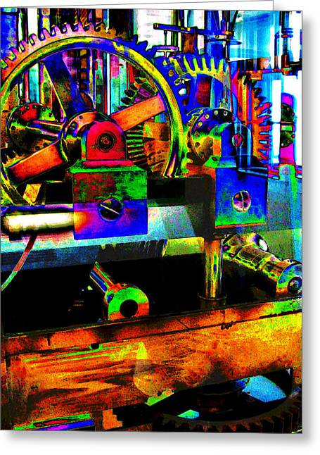 Gears Wheel Greeting Cards - Shifting Gears Greeting Card by Colleen Kammerer