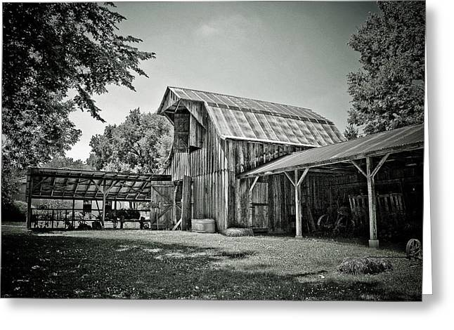 Barn Landscape Photographs Greeting Cards - Shiloh barn Greeting Card by Toni Hopper