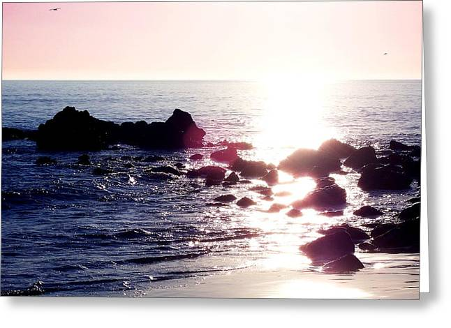 Beach Photos Drawings Greeting Cards - Shimmer Greeting Card by Carey Davis