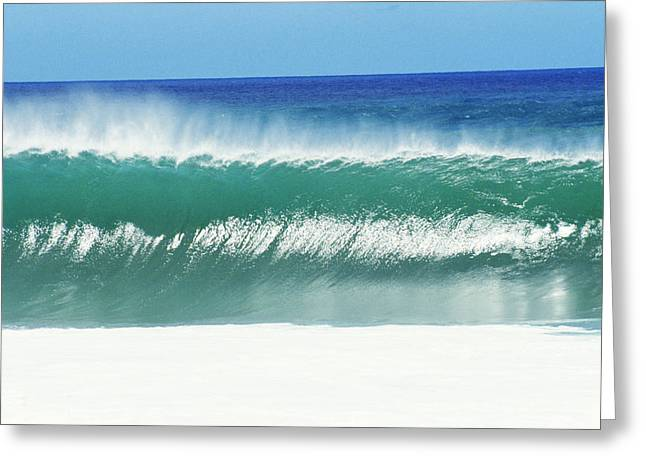 Vince Greeting Cards - Shimmery Shorebreak Greeting Card by Vince Cavataio - Printscapes