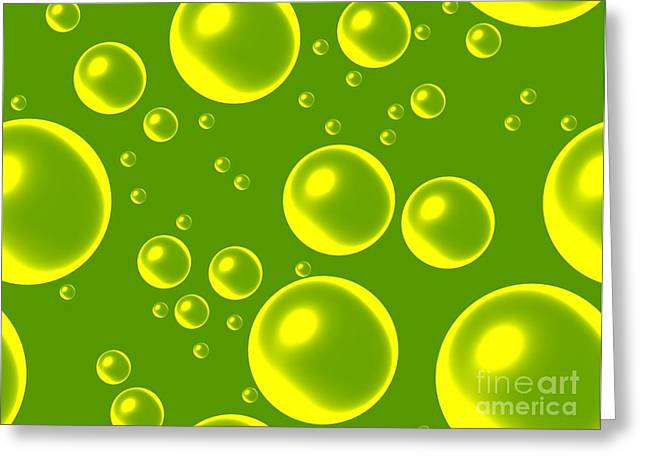 Abstract Digital Greeting Cards - Shiny Bubbles Greeting Card by Marsha Heiken