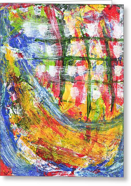 Masts Mixed Media Greeting Cards - SHIP AT SEA TWO K and NINE Greeting Card by Carl Deaville