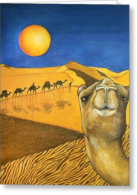 Camels Greeting Cards - Ship of the Desert Greeting Card by Robert Lacy
