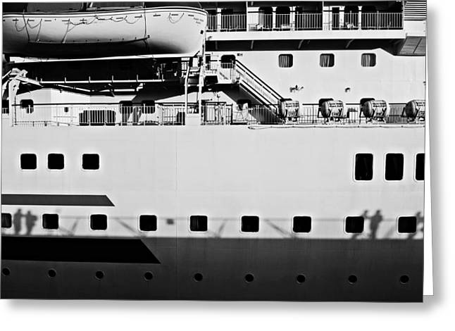 Cruise Terminal Greeting Cards - Ship Watching Greeting Card by Dean Harte