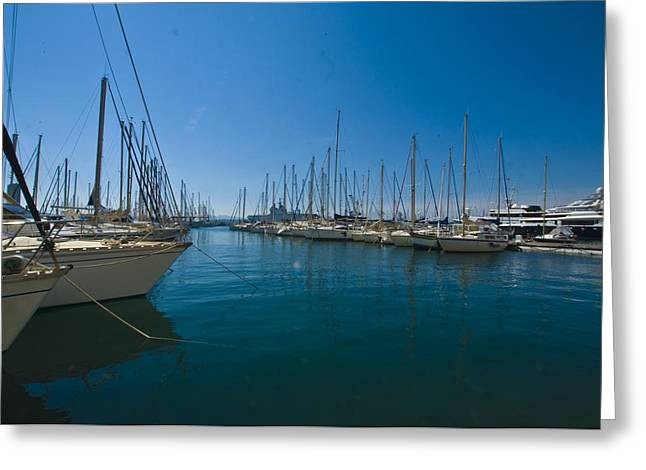 Masts Greeting Cards - Ships in Their Slips in Toulon Greeting Card by Richard Henne