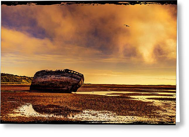 Shipwreck Greeting Card by Mal Bray