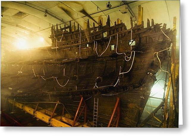 Salvage Greeting Cards - Shipwreck Of The Mary Rose, Portsmouth Greeting Card by Sici