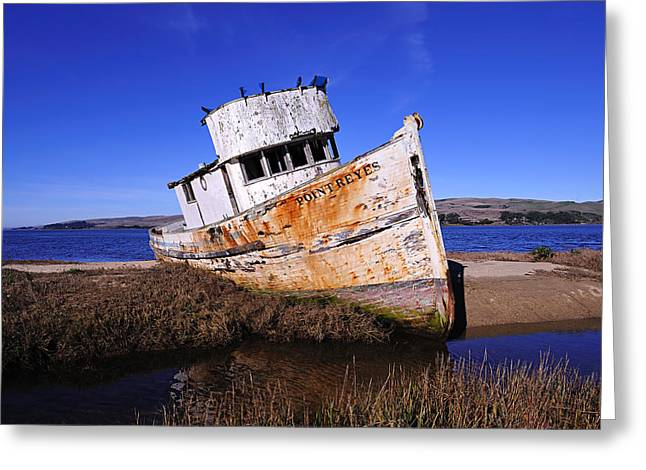 Shipwrecked In Inverness Greeting Card by Richard Leon