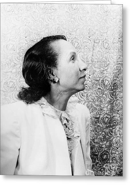 Shirley Graham Du Bois Greeting Card by Granger