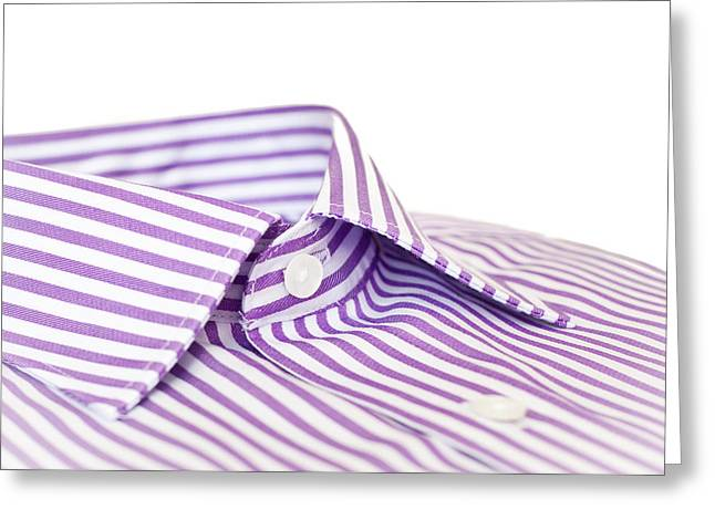 Collar Greeting Cards - Shirt collar Greeting Card by Tom Gowanlock