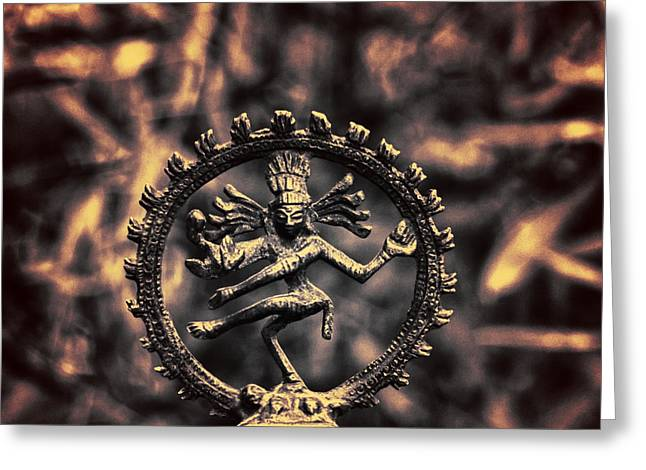 Ancient Indian Art Greeting Cards - Shiva  Greeting Card by Stylianos Kleanthous