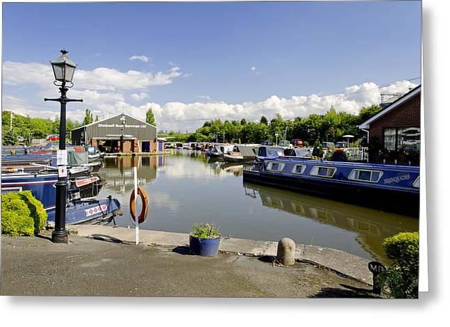 Burton Greeting Cards - Shobnall Marina - Burton on Trent Greeting Card by Rod Johnson