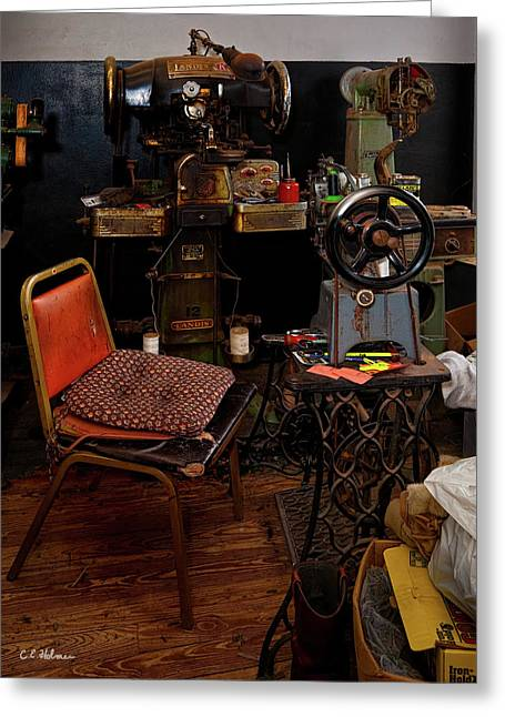 Shoe Repair Greeting Cards - Shoe Hospital Greeting Card by Christopher Holmes