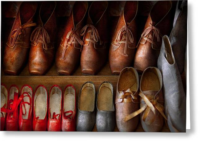 Shoemaker - Shoes Worn In Life Greeting Card by Mike Savad