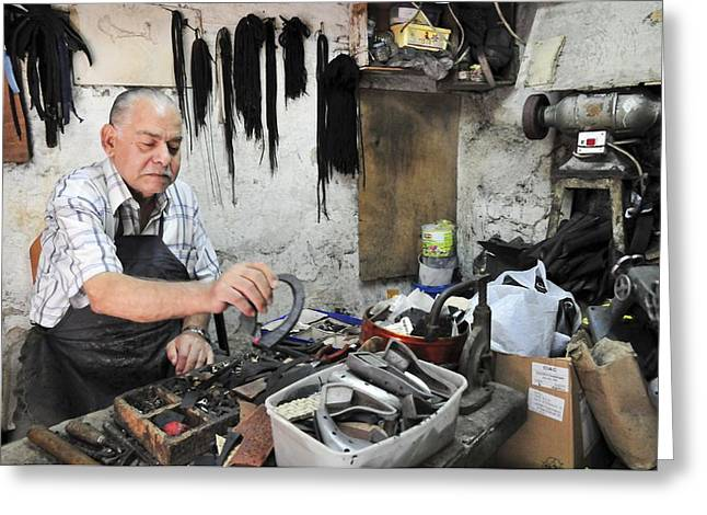 Handwork Greeting Cards - Shoemaker Greeting Card by Photostock-israel
