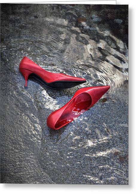 Desert Lake Greeting Cards - Shoes In Water Greeting Card by Joana Kruse