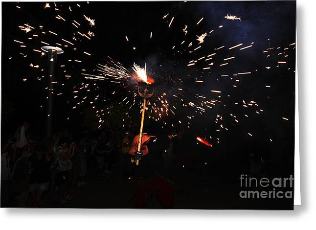 Fuegos Artificiales Greeting Cards - Shooting Greeting Card by Agusti Pardo Rossello