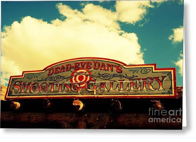 The South Photographs Greeting Cards - Shooting Gallery in Old Tuscon Arizona Greeting Card by Susanne Van Hulst