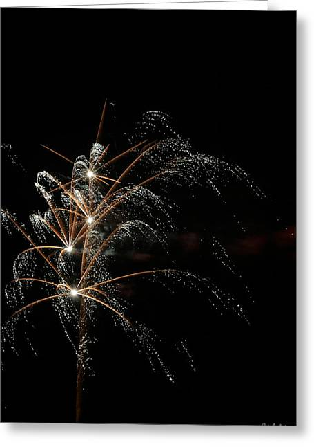 July 4th Greeting Cards - Shooting Stars Greeting Card by Phill  Doherty