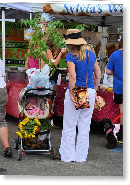 St Petersburg Florida Greeting Cards - Shopping at the Market in St Petersburg Florida Greeting Card by Alex Vishnevsky