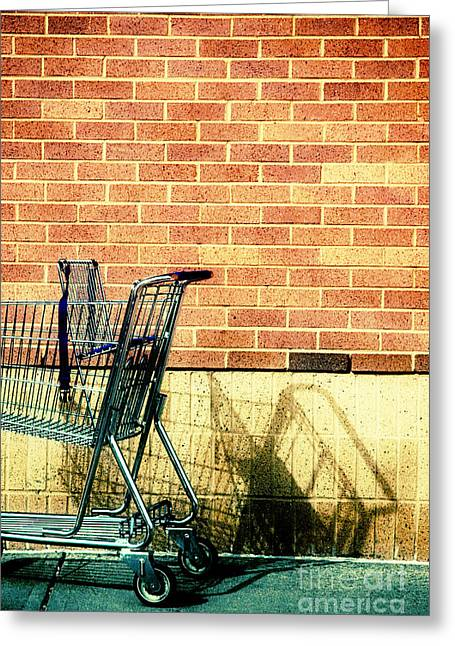 Shopping Greeting Cards - Shopping Cart Greeting Card by HD Connelly
