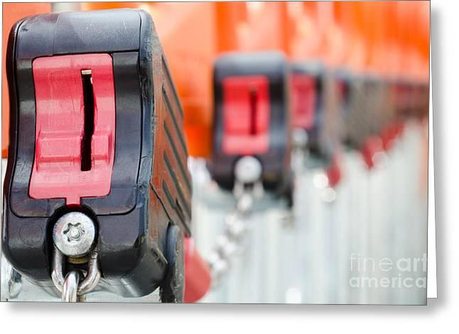 Shopping Cart Greeting Cards - Shopping carts locks Greeting Card by Mats Silvan