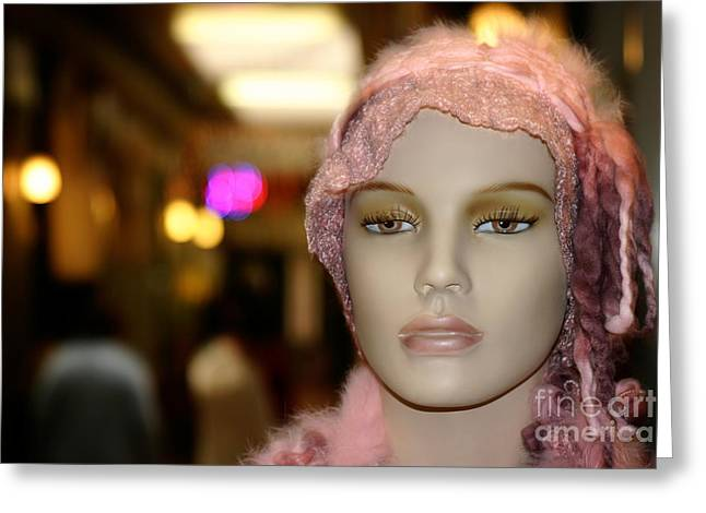 Ventura California Greeting Cards - Shopping Girl Greeting Card by Henrik Lehnerer
