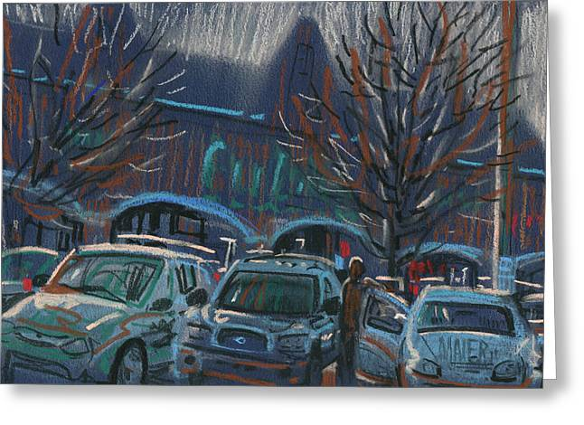 Mall Greeting Cards - Shopping Parking Greeting Card by Donald Maier