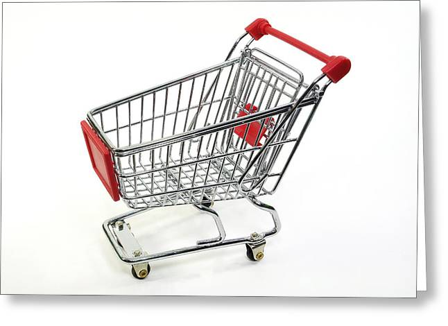 Shopping Cart Greeting Cards - Shopping Trolley Greeting Card by Friedrich Saurer